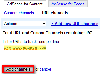 Setting Up a Google AdSense URL Channel
