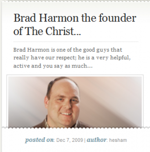 Brad Harmon, The Founder of the Christian Entrepreneur on the Famous Bloggers Club