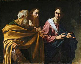 The Callings of Saints Peter and Andrew by Caravaggio