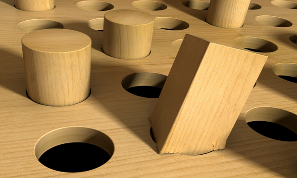 Square Peg in a Round Hole | Bradley A. Harmon